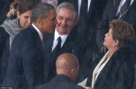 Dilma, Obama e Raul Castro